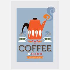 Coffee O' Clock Print by Fortiori