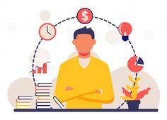 Man Illustration, Business Illustration, Character Illustration, Man Vector, Vector Art, Business Cartoons, Creative Poster Design, Fitness Motivation, Business Photos
