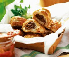 food, cooking, puff pastry, sausage rolls