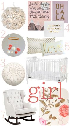 Girl nursery inspiration board