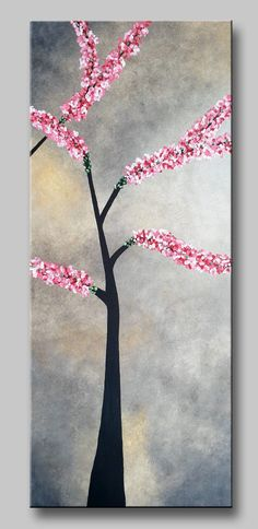 Original acrylic on canvas home or office decor. Ready to hang wall artwork. Size: 60x50 (2*20x50) cm. #art #paintings #abstract #acrylic #modern #original #wall #decor #gift #homedecor #home #flowers #asia #asian flowers