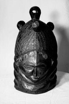 Mende Bundu Society Helmet Mask (sowei)