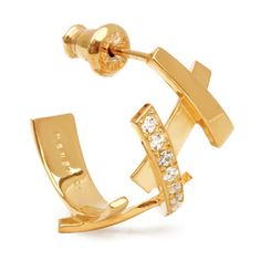 MEHEM silver pierced earring cubic zirconia  MH121-JP055-701 #mehem #piercedearring #silver #goldplated #cubiczirconia #em #emgrp
