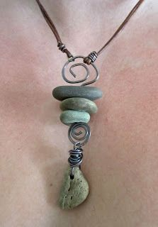 Great way to save a memory!  Make your own personal necklace from a special trip...