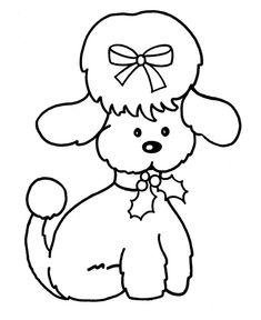 Kleurplaten Kerst Honden.77 Beste Afbeeldingen Van Kleurplaat Coloring Pages Coloring