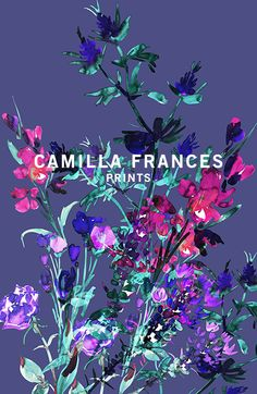 Camilla Frances is a individual print creator, leading a team that combines unique, personal design sensibilities with traditional hand drawing techniques to craft an ever-growing world of prints. Cool Patterns, Textures Patterns, Print Patterns, Floral Patterns, Sparks Image, Botanical Prints, Floral Prints, Textile Pattern Design, Art For Art Sake