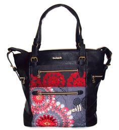Desigual Shopper Tasche Handtasche Bag NEU H/W15-16 ARGENTINA NEW RED 57X52G0