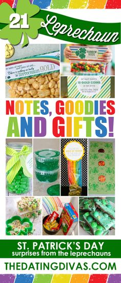Treats from the leprechaun. Cute surprises for St. Patrick's Day! www.TheDatingDivas.com