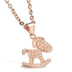 New Fashion Horse Titanium Steel Necklace