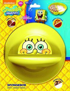 Just Crunch Anti-Soggy Bowl! (Multiple colors, including special edition Spongebob! Squarepants and Teenage Mutant Ninja Turtles)