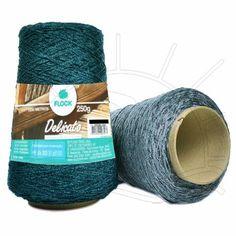 Fio Delicato Flock 250g Lançamento Flock Textil 2014 Composição: 35% Viscose, 35% Algodão, 30% Poliéster Contém: 1250m Fabricante: Flock Textil