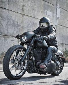 Harley Street Bob biker