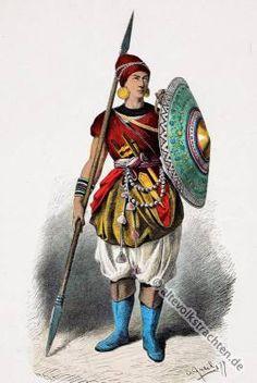 Indien. Indischer Lanzenträger XV. Jahrhunderts.