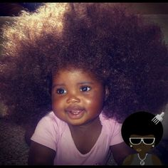 God bless her #Afro #Curlyhair