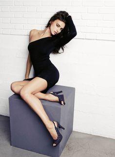 HD wallpaper: women's black one-shoulder long-sleeved bodycon dress, Irina Shayk Irina Shayk, Poses Modelo, Sexy Dresses, Short Dresses, Beauty And Fashion, Style Fashion, Stephen James, Femmes Les Plus Sexy, Bodycon Dress With Sleeves