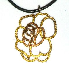 yellow+Crystal+Flower+Necklace++on+black+cord++#Unbranded+#Pendant http://stores.ebay.com/JEWELRY-AND-GIFTS-BY-ALICE-AND-ANN