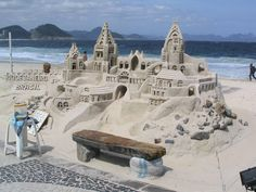 Image detail for -sandcastle took some planning and execution! Or is it a sandcastle ...