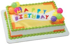 Neon Happy Birthday Candles DecoSet, very popular in the bakery