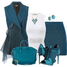THE BLUES by arjanadesign on Polyvore featuring T By Alexander Wang, Yang Li, Proenza Schouler, Burberry, Givenchy, Elizabeth Cole, GUESS by Marciano and Diane Von Furstenberg