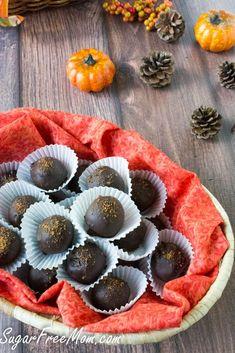 Chocolate Pumpkin Truffles #nobake #sugarfree #lowcarb