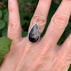 Black Sunstone Ring Oxidized Sterling Silver, Gemstone Rings, Band, Jewelry, Sash, Jewlery, Jewerly, Schmuck, Jewels