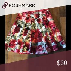 White House Black Market Floral Skirt Like new only worn once for pictures. White House Black Market Skirts