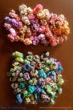 Fiber Art Reflections: Curlicue Freeform Crochet