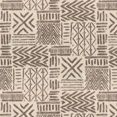 Lush cream and brown fabric. This taupe tribal fabric is available by the yard and on most Loom custom furnishings. Motifs Textiles, Tribal Fabric, Paper Crafts Origami, African Textiles, Diy Carpet, Modern Carpet, African Design, Tribal Art, Textile Design