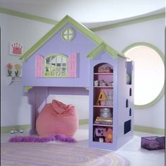 Mastercraft Collections Loft Twin Doll House Bed with Bookshelves