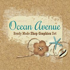 Beach Shop Banners Icon Avatars Business Card by CyanSkyDesign
