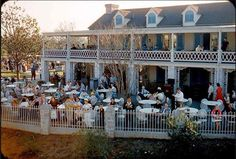 In 1962, Disneyland's Chicken Plantation Restaurant - in business since the park's opening day - closes in Frontierland. Sponsored by Swift's Premium Meats, the restaurant served up fried chicken dinners along the Rivers of America. The space occupied by the restaurant is needed for the construction of New Orleans Square.