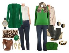 """Plus Size - St. Patrick's Day Casual Date - Two Ways"" by dawnhearn on Polyvore featuring Via Spiga, Zizzi, Classiques Entier, M&Co, WearAll, Michael Kors, Diane Von Furstenberg, Giuseppe Zanotti, Marc by Marc Jacobs and Latelita"