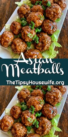 Asian Meatballs Easy party food using ground pork and peanuts. A soy sauce and peanut butter glaze with green onion make this a great recipe for parties or a dinner idea. Meatball Recipes, Beef Recipes, Cooking Recipes, Meatball Dinner Ideas, Pork Recipes For Dinner, Mince Dinner Ideas, Easy Dinner Party Recipes, Minced Chicken Recipes, Sausage Recipes
