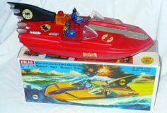 RARE Vintage Bichi Argentina 1970s Batman Batboat Toy w Box Red Variant NMINT | eBay