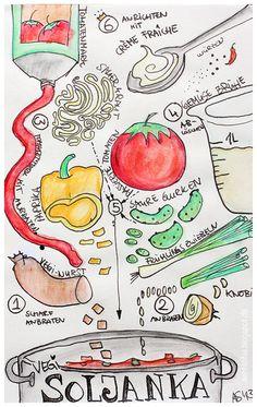Sketchrecipe - Vegi Soljanka on http://aentschie.blogspot.de
