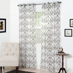 Bedford Home Valencia Embroidered Curtain, 108', Chocolate * Be sure to check out this awesome product-affiliate link. #WindowTreatments