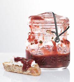 Pluot Jam - Bon Appétit - with balsamic vinegar, rosemary, and lemon