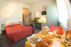 Double Room with breakfast, croissant, orange juice and Breakfast Croissant, Holiday Resort, Double Room, Orange Juice, Hotels, Italy, Places, Furniture, Home Decor