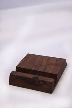 Wooden Phone Holder by WoodChopKC on Etsy