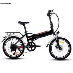 ANCHEER Electric Mountain Bike, 26 Inch Folding E-bike with Super Lightweight Magnesium Alloy 6 Spokes Integrated Wheel, Premium Full Suspension and Shimano 21 Speed Gear (Black - foldable, 20 In) E Mountain Bike, Folding Mountain Bike, Electric Mountain Bike, Electric Bike Review, Folding Electric Bike, Electric Bicycle, Bike Folding, Bicycle Women, Bike Seat