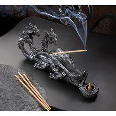 Triple-Head Dragon Incense Burner by GYPSYROSEDREAMS on Etsy