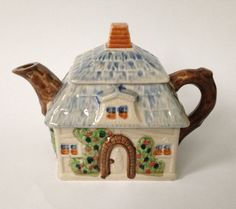Vintage Keele Hand Painted Cottage Teapot by TheEclecticAvenue, $14.99