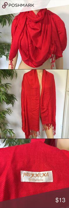 Pashmina Red Scarf Like new red Pashmina scarf ❌No Trades❌ Pashmina Accessories Scarves & Wraps