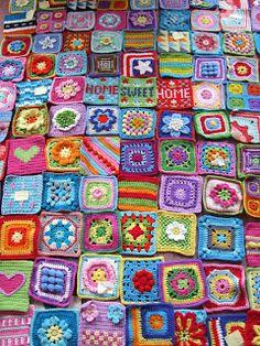 Transcendent Crochet a Solid Granny Square Ideas. Inconceivable Crochet a Solid Granny Square Ideas. Granny Square Crochet Pattern, Crochet Squares, Crochet Granny, Crochet Blanket Patterns, Easy Crochet, Crochet Stitches, Granny Squares, Crochet Blocks, Afghan Patterns