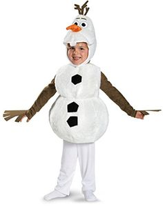 Disguise Baby's Disney Frozen Olaf Deluxe Toddler Costume,White, #halloweencostumesboutique