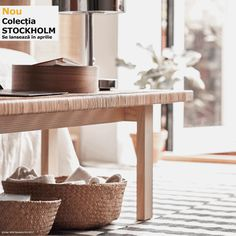 Take a look at the brand new IKEA Stockholm 2017 collection and discover interior design styles that would work well with pieces you pick up in this range. Ikea Stockholm, Stockholm 2017, Rattan Furniture, Living Room Furniture, Modern Furniture, Furniture Design, Ikea 2018, Rattan Coffee Table, Photo Deco