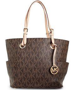 MICHAEL Michael Kors Handbag, Signature Tote - Michael Kors Handbags - Handbags & Accessories - Macy's