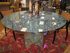 SMOKED CRACKED GLASS TABLE Furniture Pinterest Glass Tables