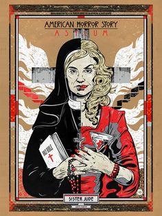 """American Horror Story - Asylum - Nick Beery - ''Sister Jude'' ---- """"American Horror Story"""" art show at Hero Complex Gallery (2015-10) #AHS"""