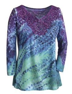 Kateri Abstract Feather Top